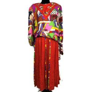 DIANE FREIS Vintage Silk Geisha Skirt Set